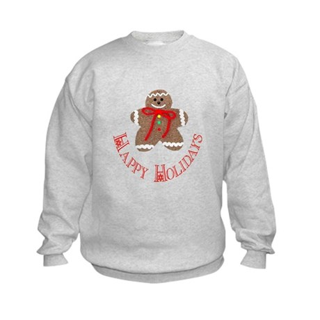 Gingerbread Holidays Kids Sweatshirt