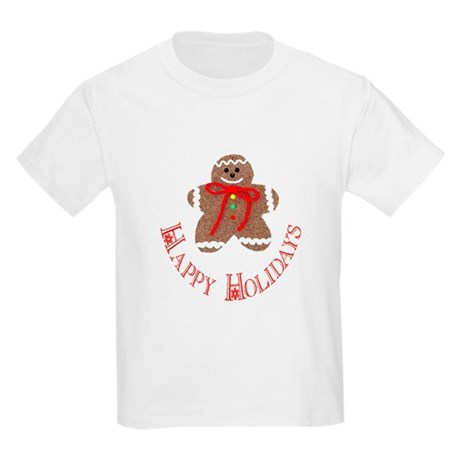 Gingerbread Holidays Kids Light T-Shirt
