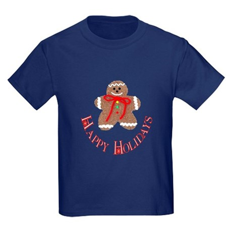 Gingerbread Holidays Kids Dark T-Shirt
