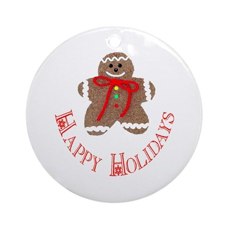 Gingerbread Holidays Ornament (Round)