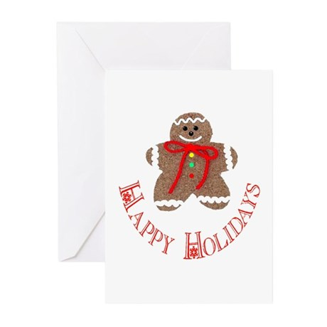 Gingerbread Holidays Greeting Cards (Pk of 10)