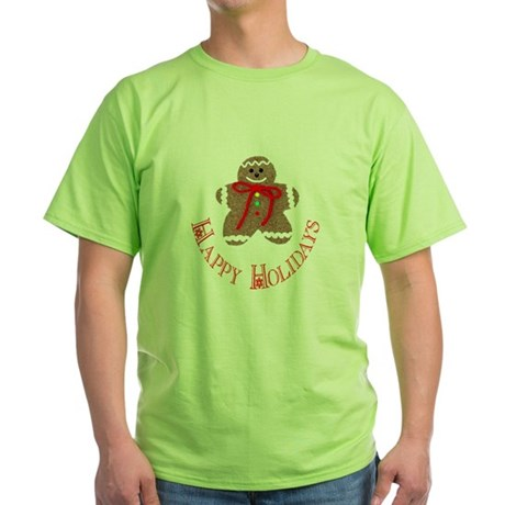 Gingerbread Holidays Green T-Shirt