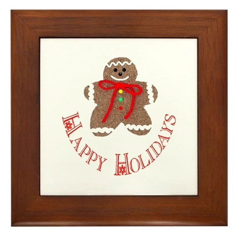 Gingerbread Holidays Framed Tile