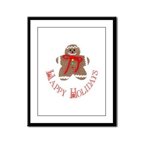 Gingerbread Holidays Framed Panel Print