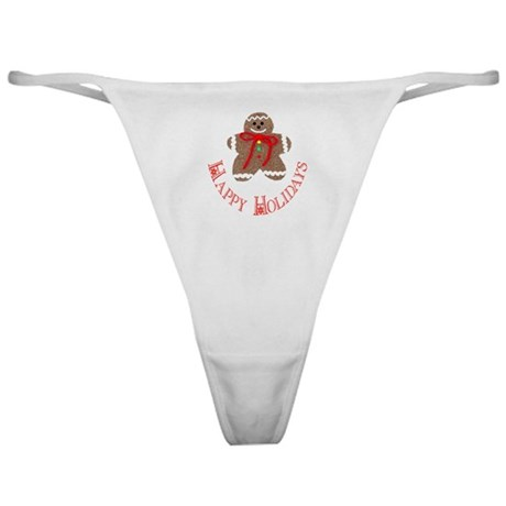 Gingerbread Holidays Classic Thong