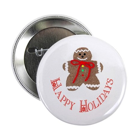 Gingerbread Holidays Button
