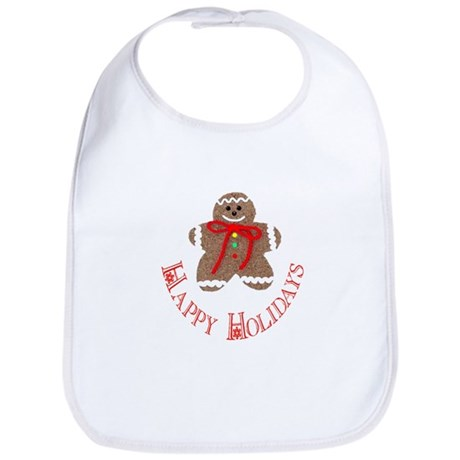 Gingerbread Holidays Bib