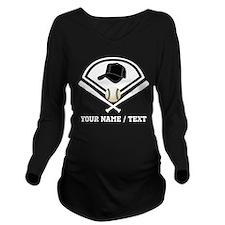 Custom Name/Text Baseball Gear Long Sleeve Materni