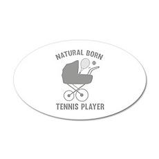 Natural Born Tennis Player 22x14 Oval Wall Peel