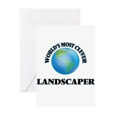 World's Most Clever Landscaper Greeting Cards