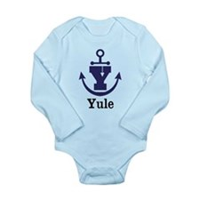 Personalized Anchor Monogram Y Body Suit