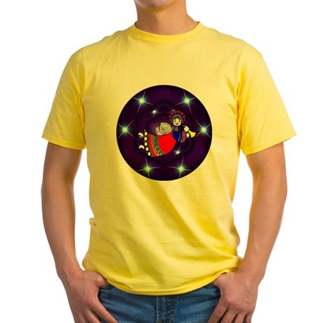 Christmas Angel Yellow T-Shirt