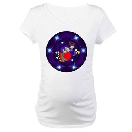 Christmas Angel Maternity T-Shirt