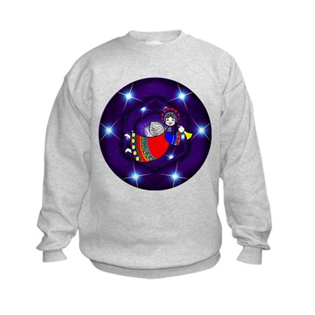 Christmas Angel Kids Sweatshirt