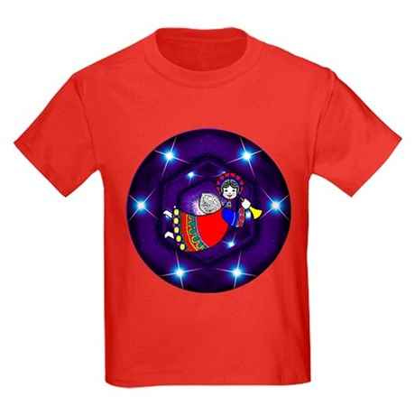 Christmas Angel Kids Dark T-Shirt