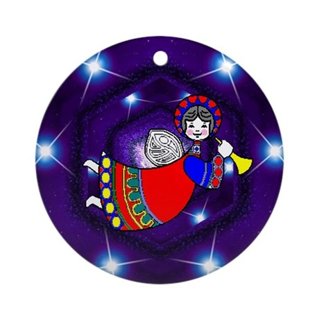 Christmas Angel Ornament (Round)