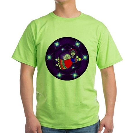 Christmas Angel Green T-Shirt