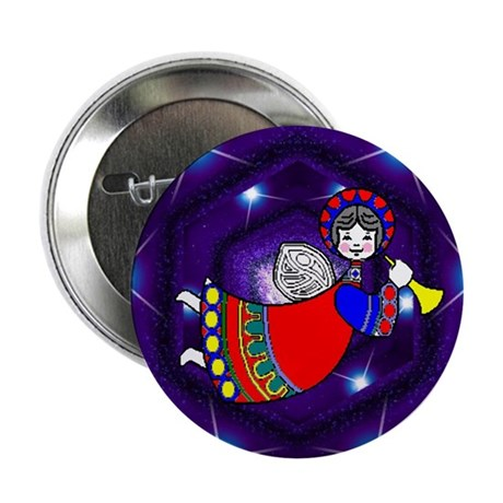 "Christmas Angel 2.25"" Button (10 pack)"
