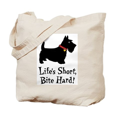 LIFE'S SHORT, BITE HARD! Tote Bag