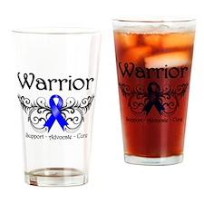 Anal Cancer Warrior Drinking Glass