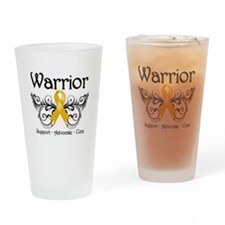 Appendix Cancer Warrior Drinking Glass