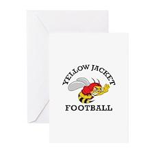 YELLOWJACKET FOOTBALL Greeting Cards