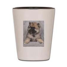 Keeshond Puppy Shot Glass