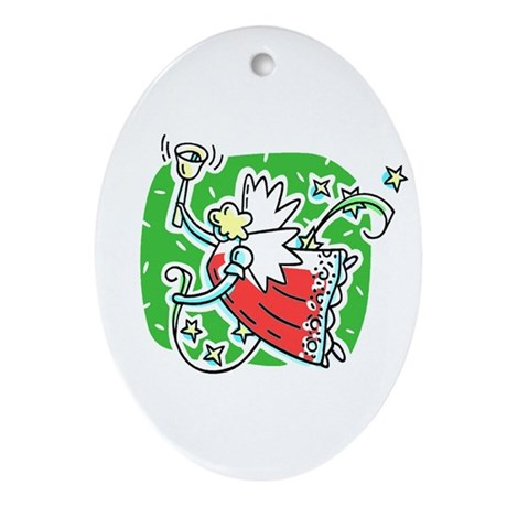 Whymsical Angel Oval Ornament