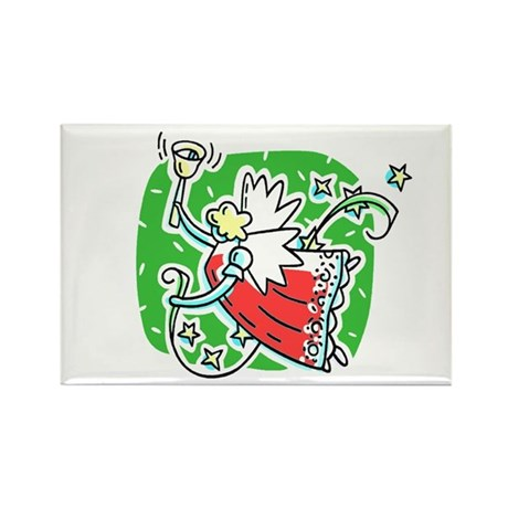 Whymsical Angel Rectangle Magnet (100 pack)
