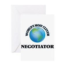 World's Most Clever Negotiator Greeting Cards