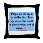 EMERSON - CHARACTOR QUOTE Throw Pillow