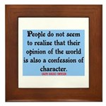 EMERSON - CHARACTOR QUOTE Framed Tile