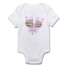 Love and Hate Fists Infant Bodysuit