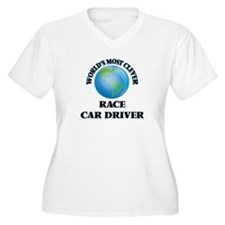 World's Most Clever Race Car Dri Plus Size T-Shirt