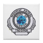 Florida Highway Patrol Tile Coaster