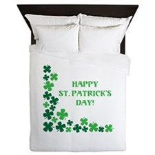 Happy St Patrick's Day Queen Duvet