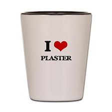 I Love Plaster Shot Glass