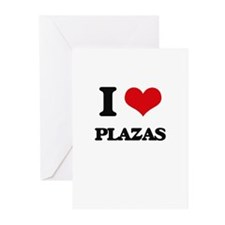 I Love Plazas Greeting Cards