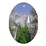 Yosemite Falls Upper & Lower Oval Ornament