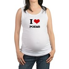 I Love Poems Maternity Tank Top
