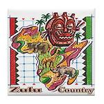 Zulu Country Tile Coaster