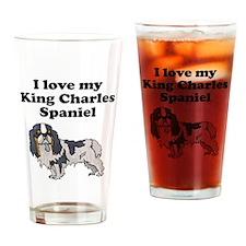 I Love My King Charles Spaniel Drinking Glass
