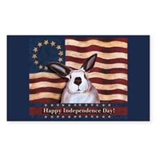 July fourth rabbit Rectangle Decal