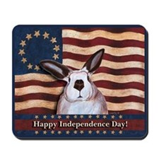 July fourth Rabbit Mousepad