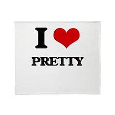 I Love Pretty Throw Blanket
