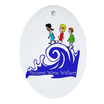 Tsunami Wave Walkers Oval Ornament
