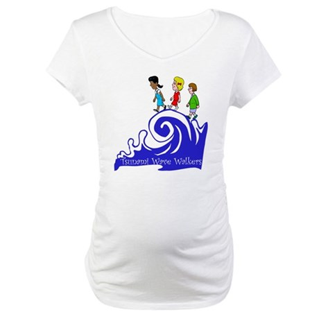 Tsunami Wave Walkers Maternity T-Shirt