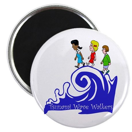 Tsunami Wave Walkers Magnet