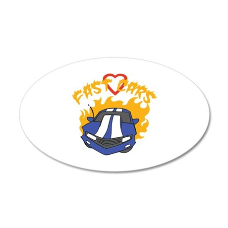 LOVE FAST CARS Wall Decal