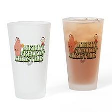 Merry Freakin' Christmas Drinking Glass